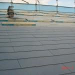 街角展示場 屋根工事